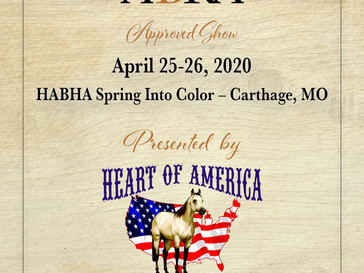 HABHA Spring Into Color Show- Approved ABRA Show April 25-26!