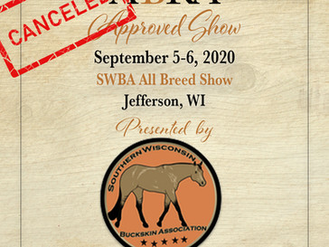 Cancelled Approved Show Sept 5-6