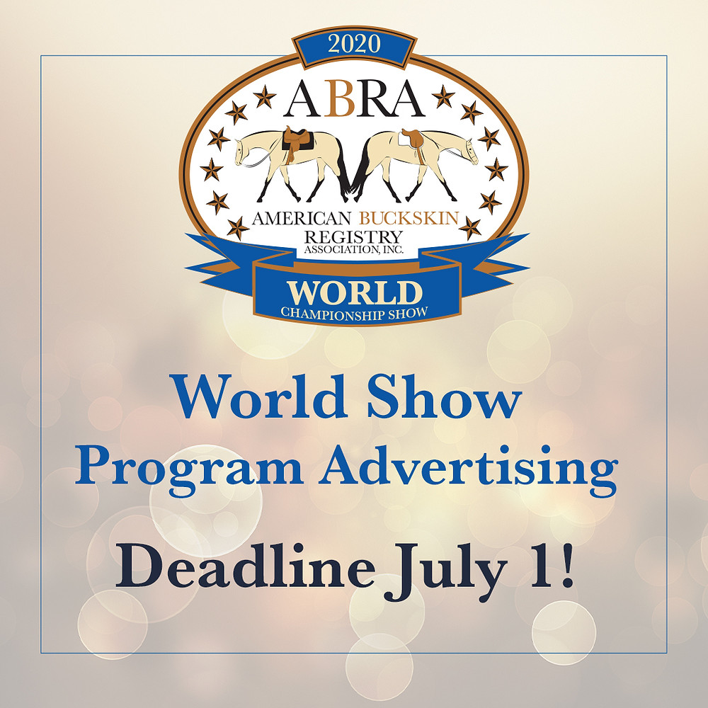 ABRA World Show Program Advertising Deadline