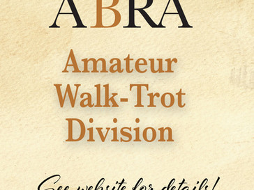 Did you know ABRA has a Walk-Trot Division for Amateurs?