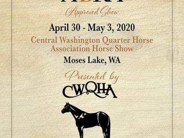 CWQHA Horse Show - Approved ABRA Show April 30 - May 3!
