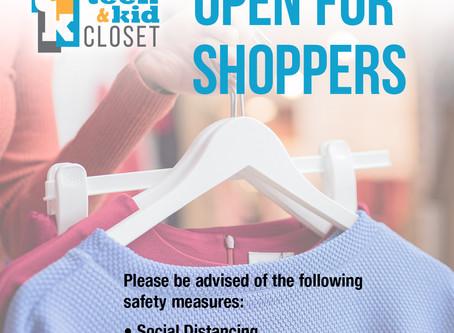 Teen & Kid Closet OPEN for Shoppers!