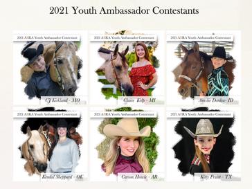 2021 World Show Youth Ambassador Contestants!