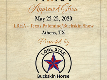 May 23 Approved ABRA Show in Athens, TX