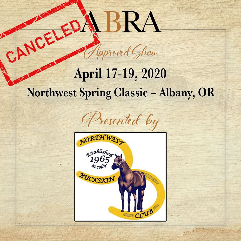 Canceled NW Spring Classic Horse Show