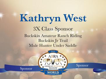 Thank You World Show Sponsor -Kathryn West