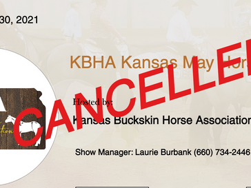 Cancelled May 29-30 Horse Show in Topeka, KS