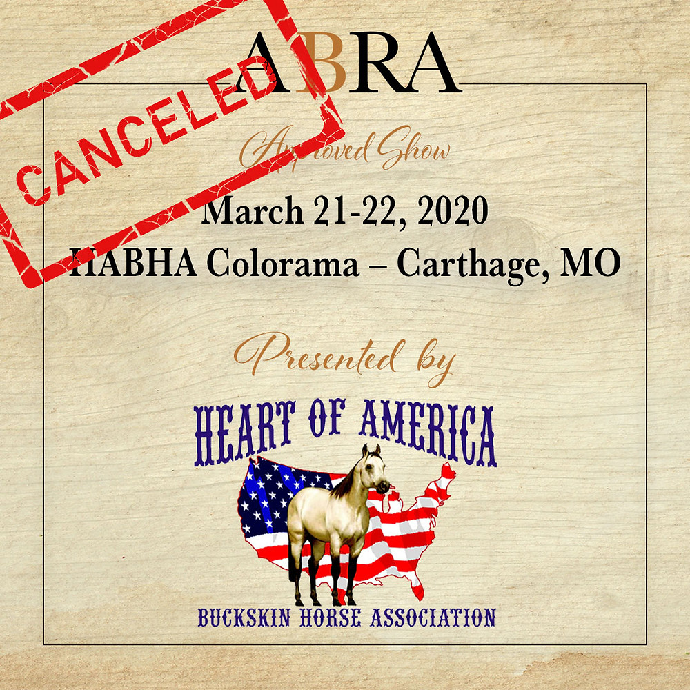 HABHA Colorama ABRA approved horse show