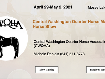 🍀Good Luck to the exhibitors attending the CWQHA Horse Show in Moses Lake, WA🍀