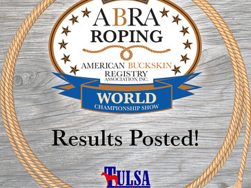 Roping World Show Results Posted!