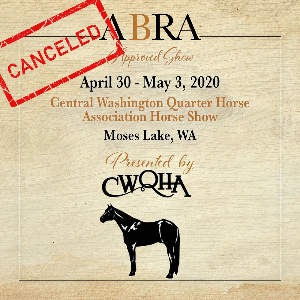 CWQHA canceled horse show