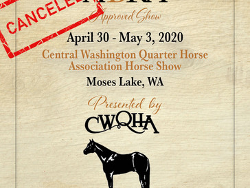 CANCELED-CWQHA Spring Show- Approved ABRA Show April 30!