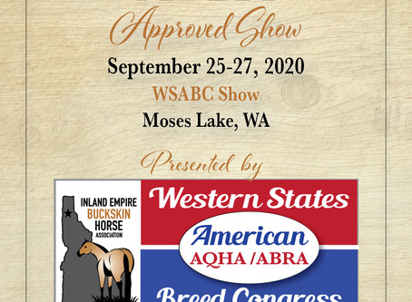 Approved ABRA Show Sept 25 in Moses Lake, WA