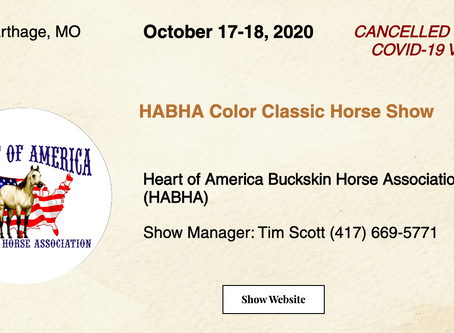 🚩 Cancelled - Oct 17-18 HABHA Horse Show 🚩
