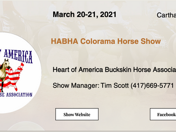 March 20-21 Approved Horse Show in Carthag, MO