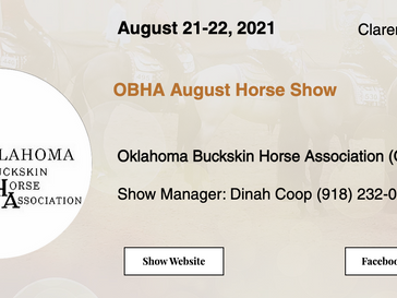 August 21-22 Approved Horse Show in Claremore, OK