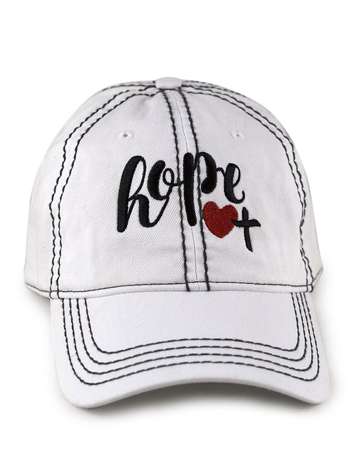 "Christian script ""Love"" on white low profile, dad hat, baseball hat"
