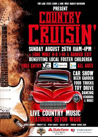 Country Cruisin event poster