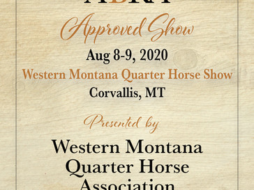 Western Montana QHA Approved ABRA Show Aug 8-9