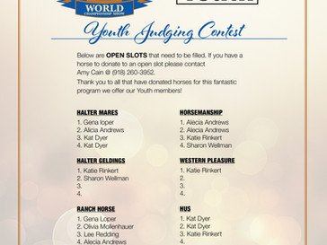More Horses Needed for Youth Judging Contest!
