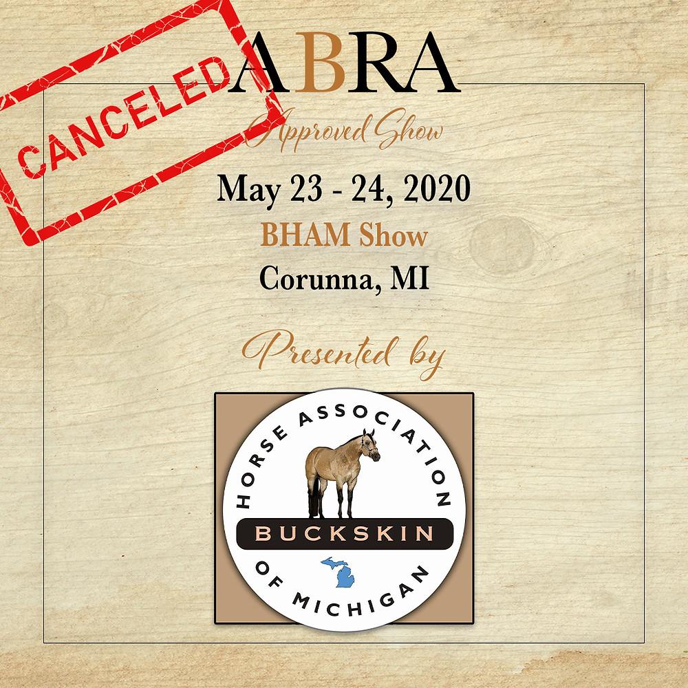 BHAM canceled horse show
