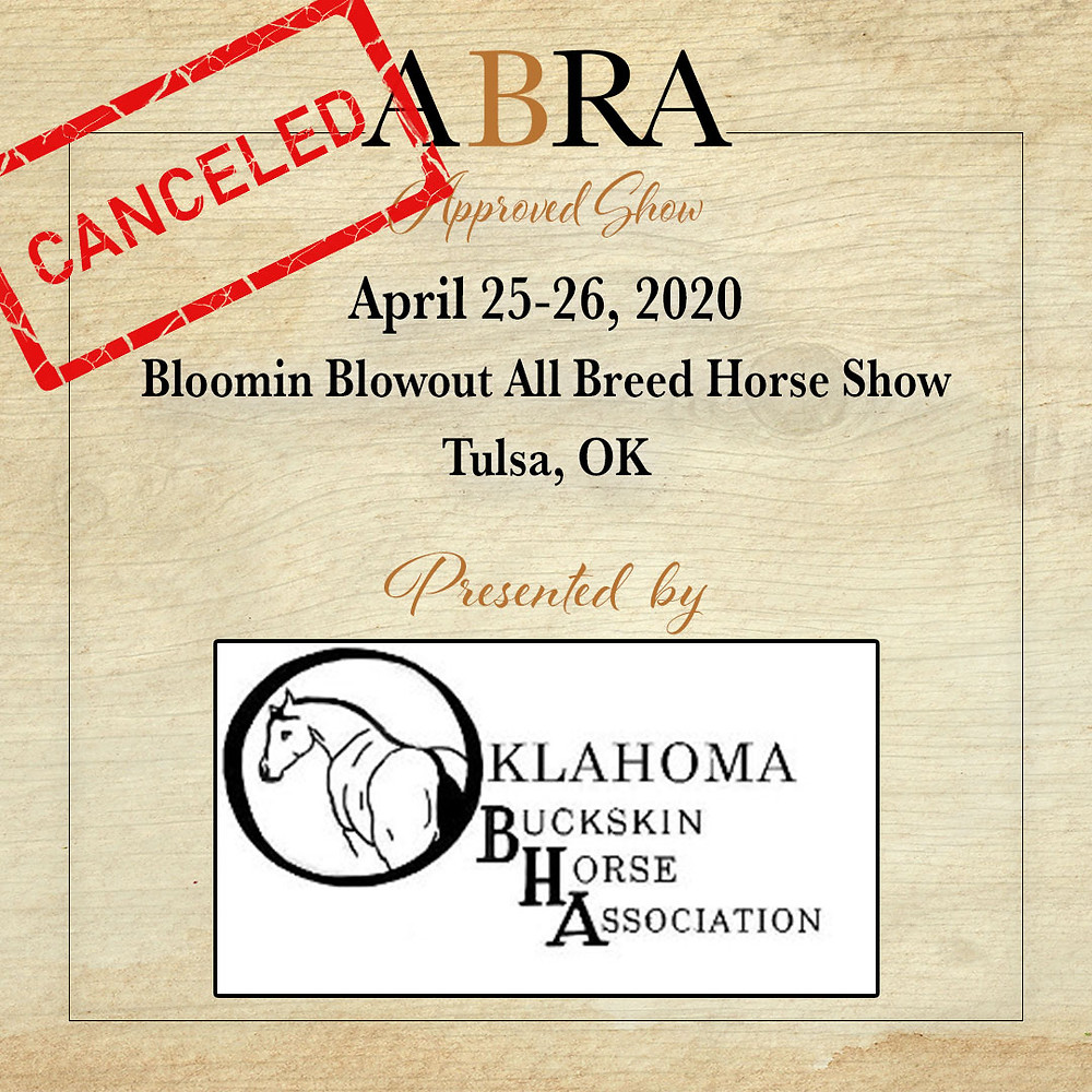April 25 ABRA Approved horse show