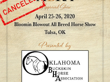 CANCELED - OBHA Bloomin Blowout All Breed Horse Show - Approved ABRA Show April 25-26!