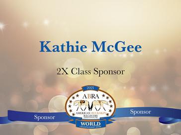 Thank You World Show Sponsor - Kathie McGee!