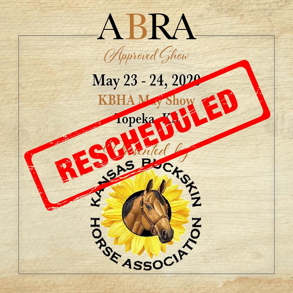KBHA rescheduled May horse show