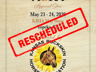 KBHA Approved Show in May Rescheduled to June