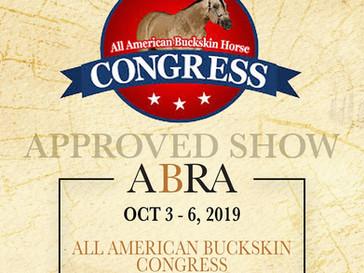 The All American Buckskin Congress Starts Today