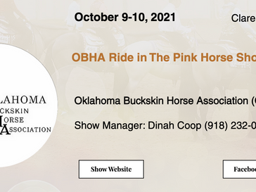 October 9-10 Approved Horse Show in Claremore, OK