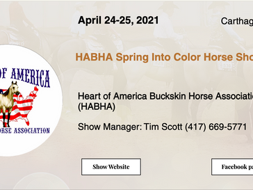 April 24-25 Approved Horse Show in Carthage, MO