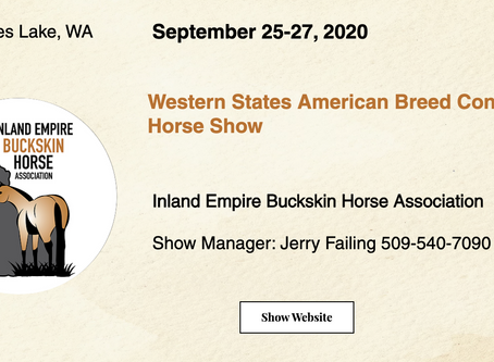 Good Luck Exhibitors- WSABC Sept 25-27 Horse Show!