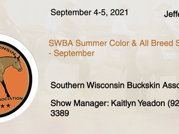 September 4-5 Approved Horse Show in Jefferson, WI
