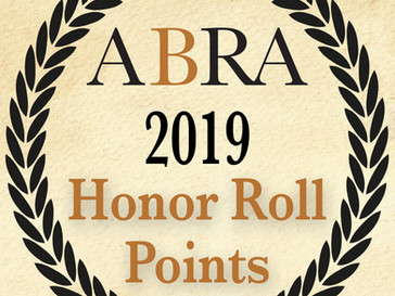 2019 Honor Roll High Points Points Posted