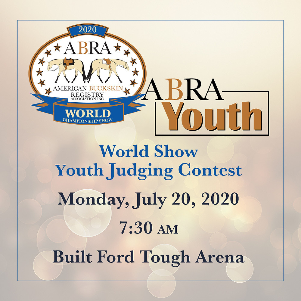 World Show Youth Judging Contest graphic