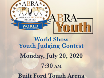 World Show Youth Judging Contest-Horses Needed!