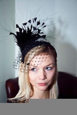 black feather headpiece