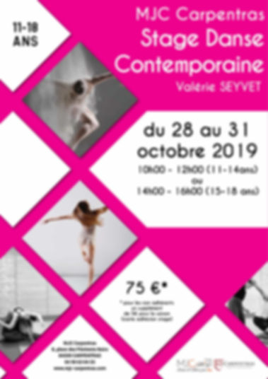 FLYER stage ados octobre 2019 carpentras