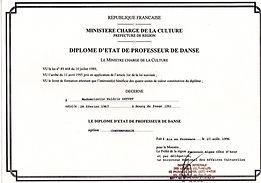 diplôme d'état professeur de danse contemporaine Valérie Seyvet