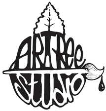 Logo representing the business meaning: art is like a tree with many branches