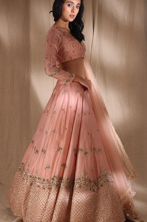 Pink Zari Lehenga