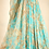 Thumbnail: Sky Blue Printed Embellished Organza Lehenga