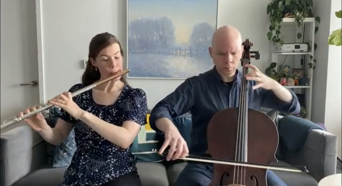 Chelsea Knox (flute) & Eric (celllo)