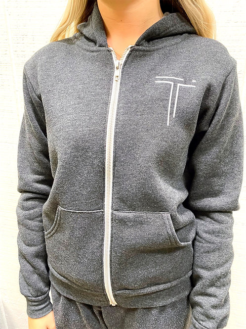 Youth Hooded Zip Up