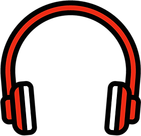 an illustrated image of a pair of headphones