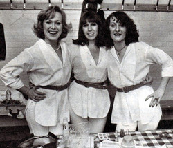 The backing vocalists at the ABBA to