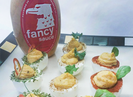 Here's a great way to kick your Deviled Eggs up a notch.