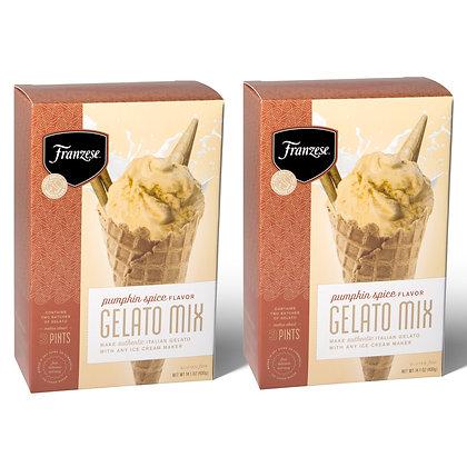 Pumpkin Spice Italian Gelato Mix 2 Box Pack (makes approx. 6 Pints)